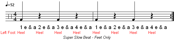 How To Play A Super Slow Drum Beat | Learn Drums Now